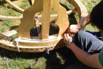 Aufbau einer mongolischen Jurte